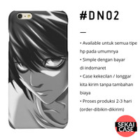 casing anime death note #dn02 hp samsung xiaomi oppo iphone asus etc