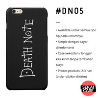 casing anime death note #dn05 hp samsung xiaomi oppo iphone asus etc