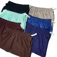 Celana Pendek Santai 7/8 Colorfull Polos