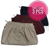 Paket Hemat 3 Pcs - Celana Pendek Santai 7/8 Colorfull Polos