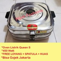SA Oven Listrik Kue Lapis Kecil Stainless Queen Baking Pan 450 Watt