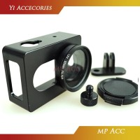 Alumunium Hard Protective Case for Xiaomi Yi with CNC Screw +UV Filter