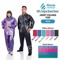 Plevia Jas Hujan POP Tipe 810 Motif Polkadot
