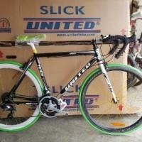 ( PROMO ) new model Sepeda Fixie Balap United Slick 71 Modif Stang