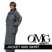 Jas Hujan Wanita Merk OMG Setelan Jaket Rok Model Salsa Tiger Head ROK