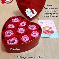Hadiah Valentine,Ultah Unik ! FLOWER SOAP (Bunga dr sabun ) IMPORT !