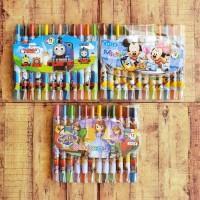 Rolling Crayon Characters 1011 - Crayon Putar Pendek 12 Warna
