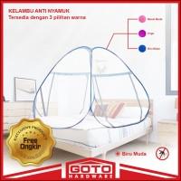 Kelambu 200 x 200 cm Full Lipat Tempat Tidur Ranjang Kasur Kanopi