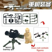 Lego Gatling Gun Brick Aksesoris Military Weapons MG517 Bootleg