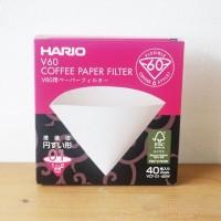 Hario V60 Paper Filter White VCF-01-40W | Saringan Kopi Kertas Saring