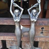 Handle Pintu Kuningan / Brass Door Pull - Putri Duyung