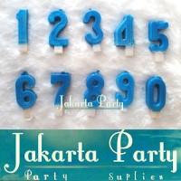 Lilin Angka Biru / Lilin Ultah / Lilin - Jakarta Party
