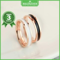 Promo Cincin Couple Gold Enamel RIng Termanis