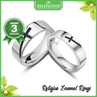 Promo CIncin Couple Religius Enamel RIng