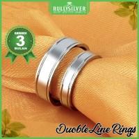 Promo Cincin Kawin Double Line Ring Termurah