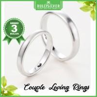 Promo Cincin White Gold Satin Couple Ring