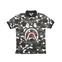 a4381b26 Polo Bape A Bathing Ape Glow In The Dark Black Camo Mirror Quality 1:1
