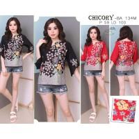 CHICORY - Atasan Batik Blouse Batik Modern Wanita Cheongsam Premium HQ