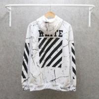 jaket hoodie off white full print / offwhite marble big / jaket cowok