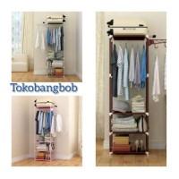 Harga terlaris termurah terbaru mhx 18 stand hanger rak pakaian | antitipu.com