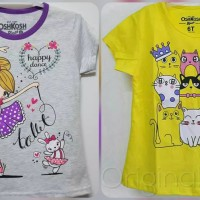 NEW Kaos atasan anak cewek Oshkosh girl cat dan ballet grey size 1-10
