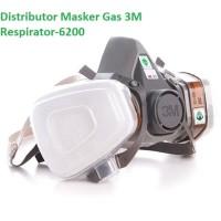 3m masker gas respirator - 6200 - gray [new]