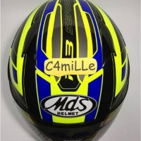 HELM MDS R3 RACE FLUO EDITION YELLOW FLUO BLUE HALF FACE aksesori
