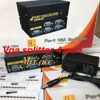 VGA SPLITTER 4 PORT / VGA SPLITER 1 TO 4 PORT + ADAPTOR