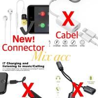 Lightning splitter earphone music Charging 2in1 for iPhone 7 8 X