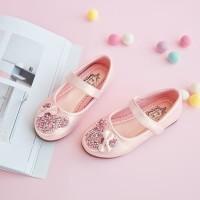 sepatu pesta anak perempuan import mickey pink