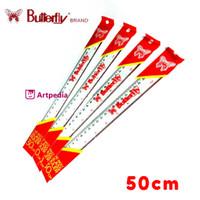Penggaris Butterfly 50cm / The Best Acrylic Ruler 50 cm Terlaris