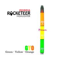 GYO (Green Yellow Orange) Zebra Rocketeer Highlighter -Stabilo Satuan