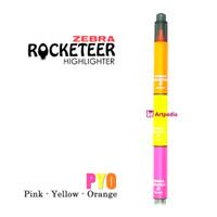 PYO (Pink Yellow Orange) Zebra Rocketeer Highlighter -Stabilo Satuan