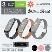 MIJOBS Xiaomi Mi Band 3 Milan Stainless Steel Wrist Strap Original