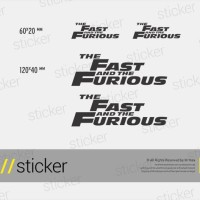 The Fast And The Furious - Cutting Sticker Stiker Oracal 4ef4ad204c