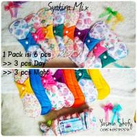 Promo Paket Mix Pembalut Kain isi 6 pcs (day dan Night) Syakira wing