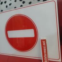 Akrilik Sign : Dilarang Masuk / Verboden