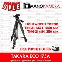 TAKARA ECO-173A Lightweight Tripod For Travel Free Bag ECO 173A