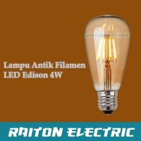 Lampu Filamen LED Vintage Retro Lampu LED Edison Bohlam ST64 4W 4watt