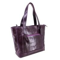 Tote Bag Kulit Tanaka Purple