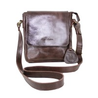 Shoulder Bag Kulit Stefano Brown