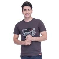 METALIZER 7004 Tumblr Tee T-Shirt Kaos Cowo Katun Premium Brown