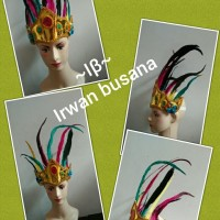 aksesoris kepala bulu adat tari tradisional