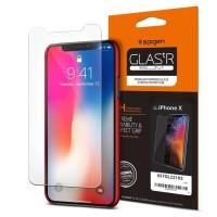 Aksesoris HP Handphone Spigen iPhone X Glas tR Slim HD Screen Protect