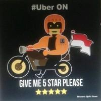 Harga aksesoris pengendara motor jaket uber | Pembandingharga.com