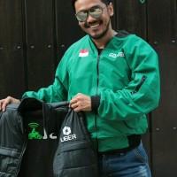 Harga jaket motor rompi grab uber gojek double | Pembandingharga.com