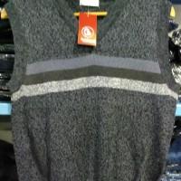 Sweater Rompi V Neck KERAH V Wanita Warna Abu-Abu Tua - 8622080 R