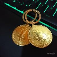 Bitcoin Gantungan Kunci Besar Tebal (Ring Edition)