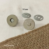Magnetic Buttons / Kancing Magnet Silver