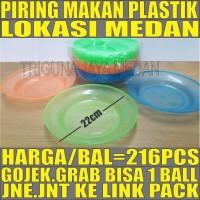 Review Piring Makan Plastik /Bal 216pcs Tebal Besar Transparan Warna Medan Di Medan - Cluboutfithjnm